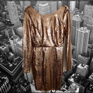 Charolette Russe rose gold sequin dress